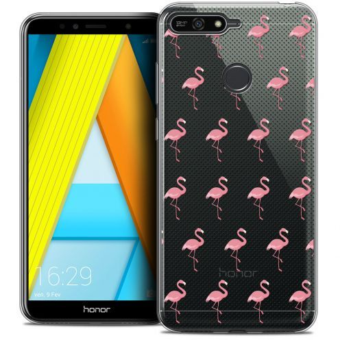 """Extra Slim Crystal Gel Honor 7A (5.7"""") Case Pattern Les flamants Roses Dots"""