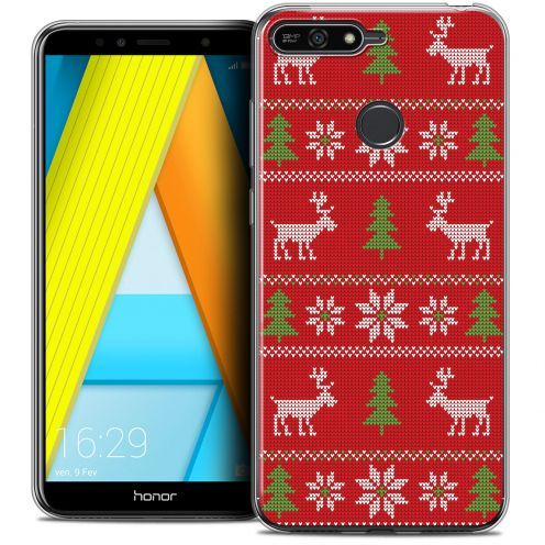 """Extra Slim Crystal Gel Honor 7A (5.7"""") Case Noël 2017 Couture Rouge"""