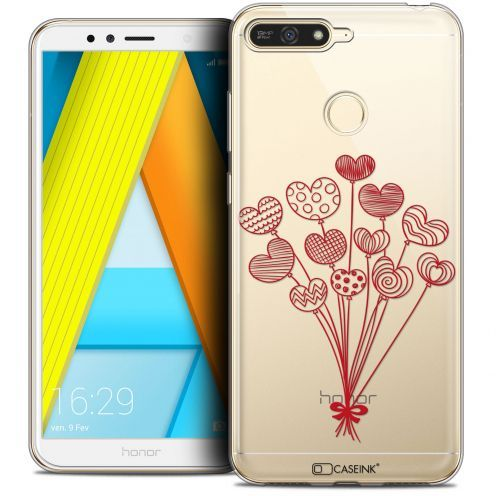 """Extra Slim Crystal Gel Honor 7A (5.7"""") Case Love Ballons d'amour"""