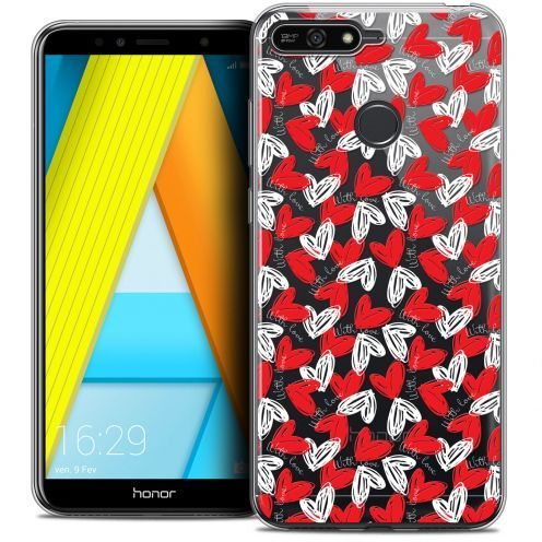 """Extra Slim Crystal Gel Honor 7A (5.7"""") Case Love With Love"""