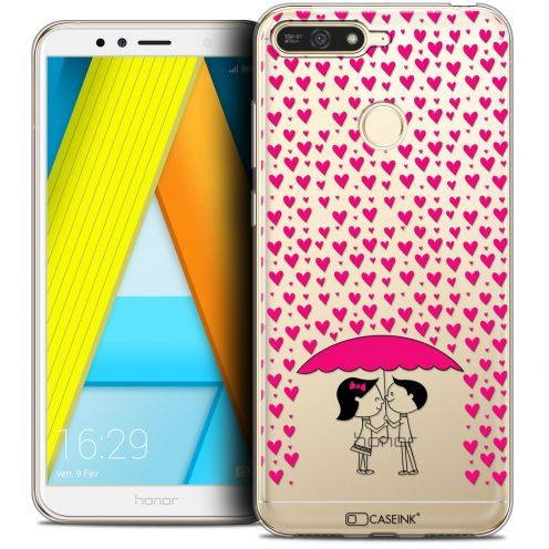 """Extra Slim Crystal Gel Honor 7A (5.7"""") Case Love Pluie d'Amour"""