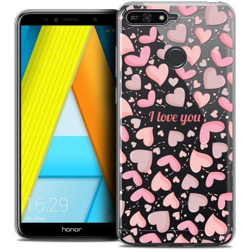 "Extra Slim Crystal Gel Honor 7A (5.7"") Case Love I Love You"