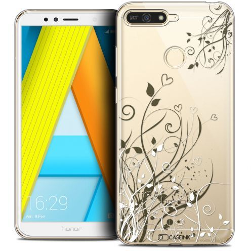 """Extra Slim Crystal Gel Honor 7A (5.7"""") Case Love Hearts Flowers"""