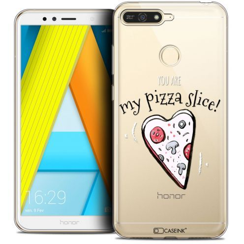"""Extra Slim Crystal Gel Honor 7A (5.7"""") Case Love My Pizza Slice"""
