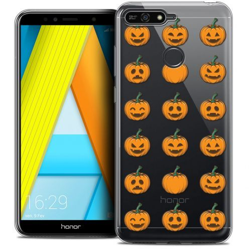 "Extra Slim Crystal Gel Honor 7A (5.7"") Case Halloween Smiley Citrouille"
