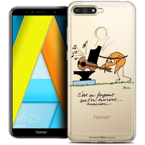 "Extra Slim Crystal Gel Honor 7A (5.7"") Case Les Shadoks® Musicien"