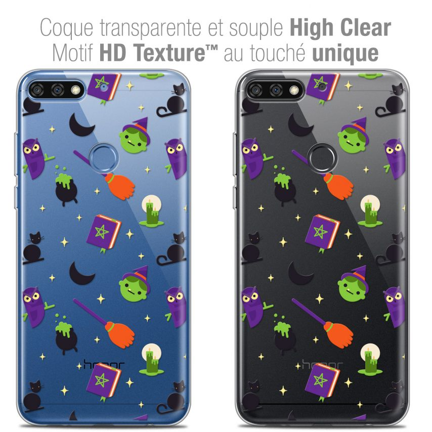 """Extra Slim Crystal Gel Honor 7C (5.99"""") Case Halloween Witch Potter"""