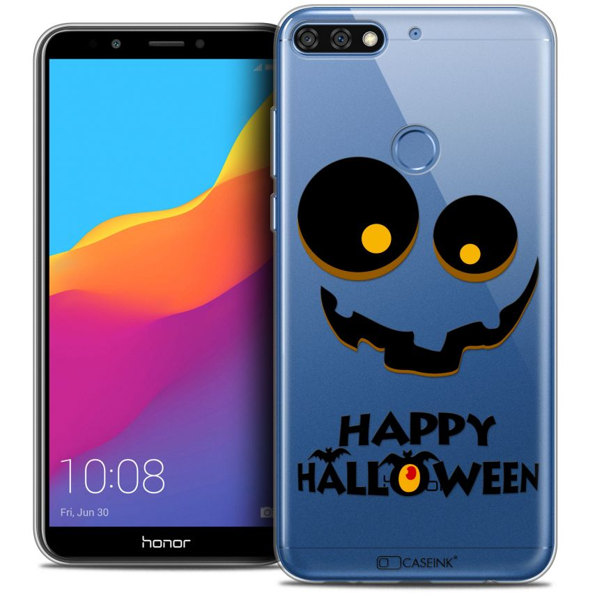 "Extra Slim Crystal Gel Honor 7C (5.99"") Case Halloween Happy"