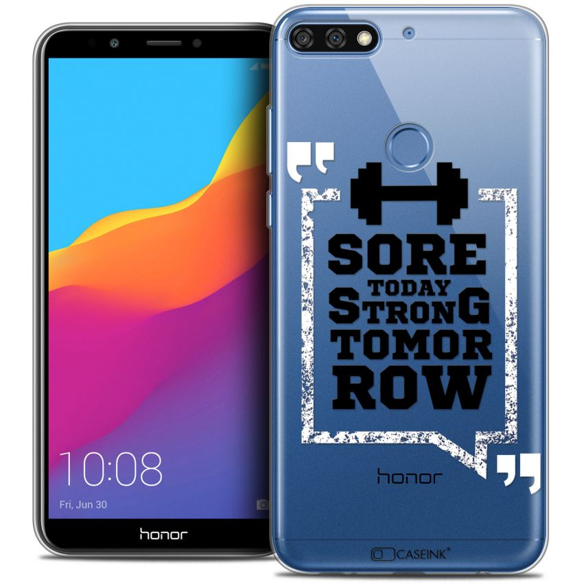 "Extra Slim Crystal Gel Honor 7C (5.99"") Case Quote Strong Tomorrow"