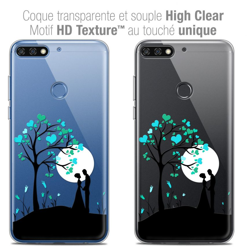 "Extra Slim Crystal Gel Honor 7C (5.99"") Case Love Sous l'arbre"