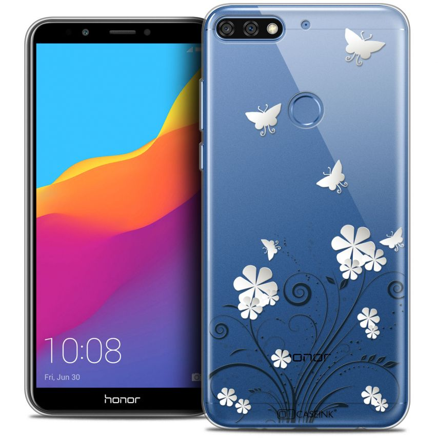 "Extra Slim Crystal Gel Honor 7C (5.99"") Case Summer Papillons"