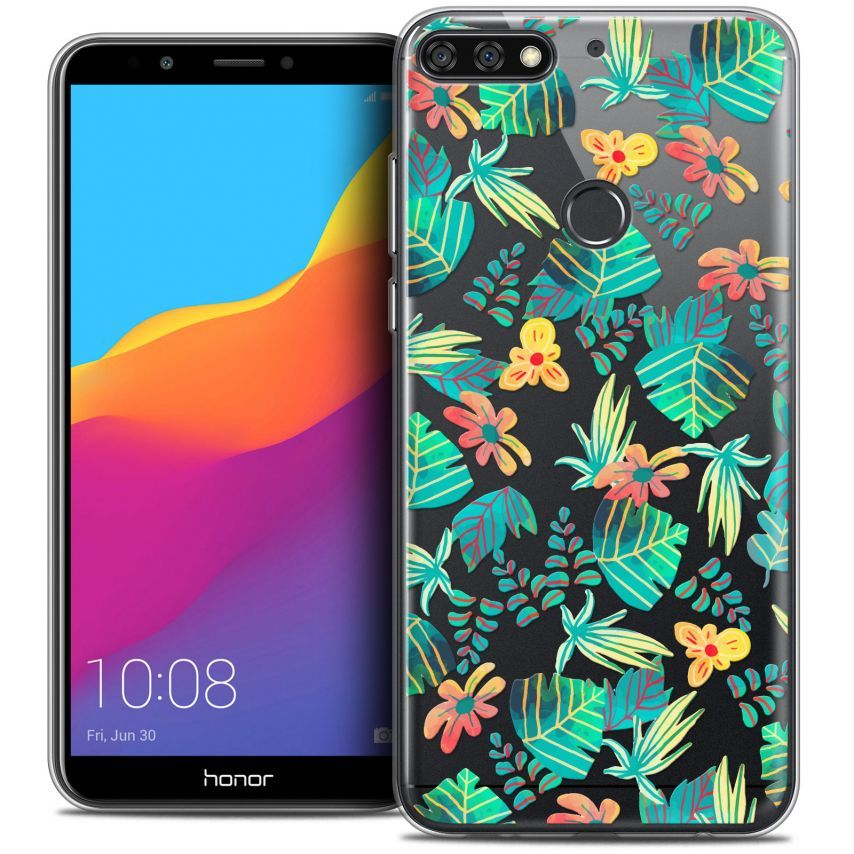 "Extra Slim Crystal Gel Honor 7C (5.99"") Case Spring Tropical"