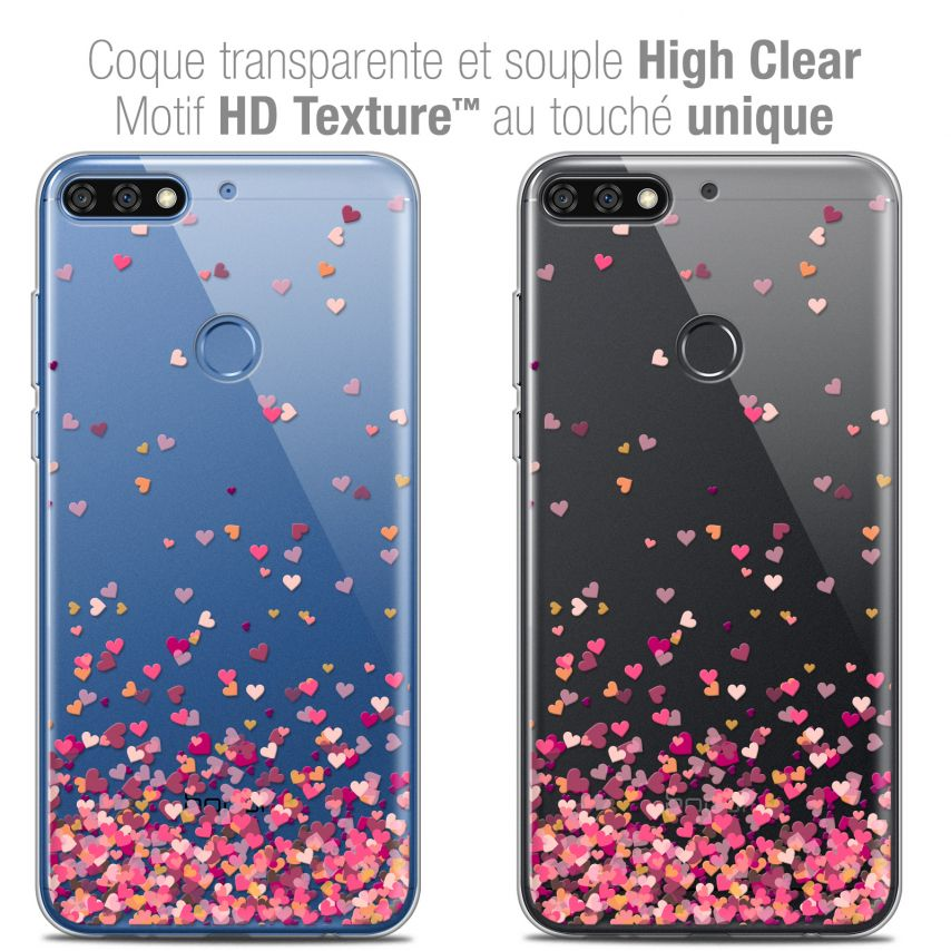 "Extra Slim Crystal Gel Honor 7C (5.99"") Case Sweetie Heart Flakes"