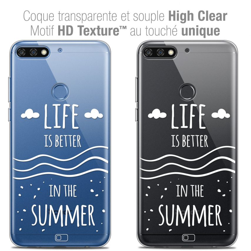 "Extra Slim Crystal Gel Honor 7C (5.99"") Case Summer Life's Better"