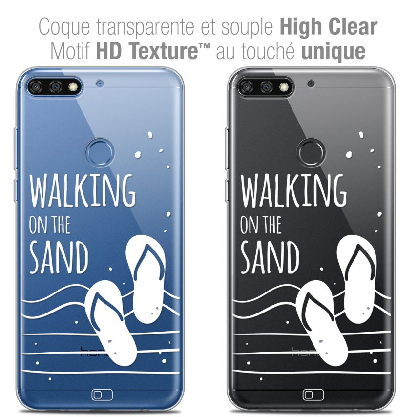 "Extra Slim Crystal Gel Honor 7C (5.99"") Case Summer Walking on the Sand"