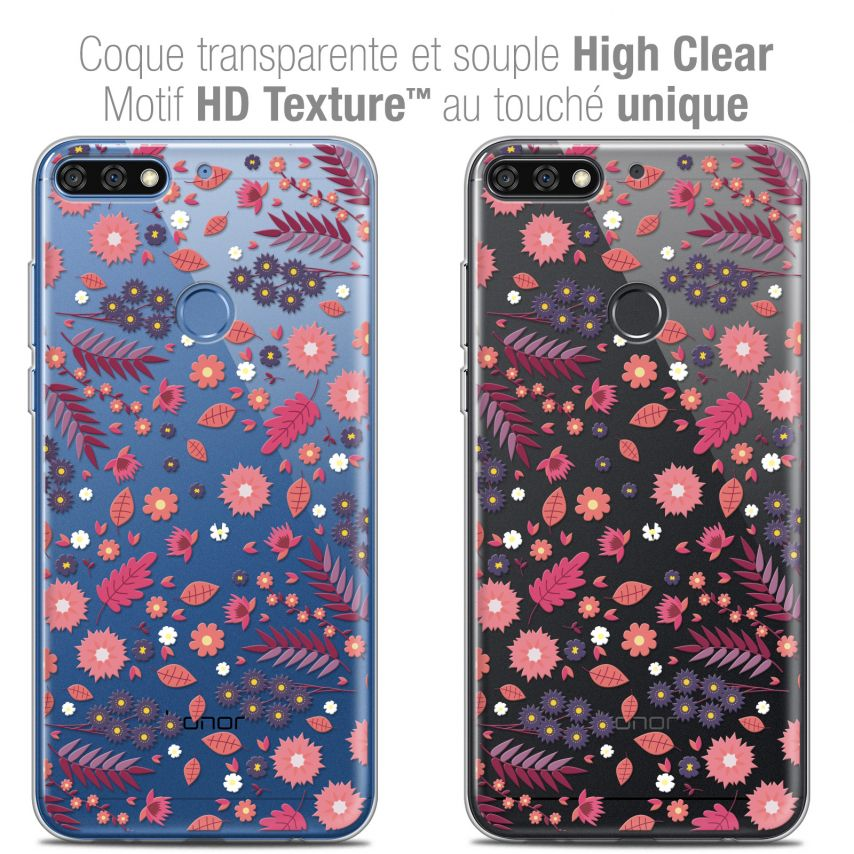 "Extra Slim Crystal Gel Honor 7C (5.99"") Case Spring Printemps"