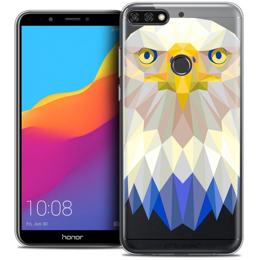 "Extra Slim Crystal Gel Honor 7C (5.99"") Case Polygon Animals Eagle"
