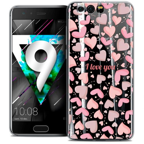 "Extra Slim Crystal Gel Huawei Honor 9 (5.15"") Case Love I Love You"