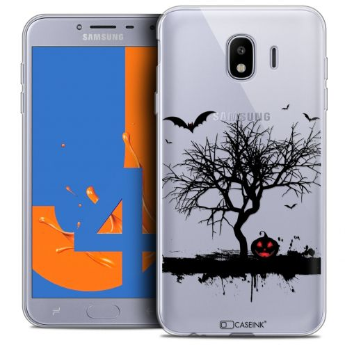 "Extra Slim Crystal Gel Samsung Galaxy J4 2018 J400 (5.5"") Case Halloween Devil's Tree"