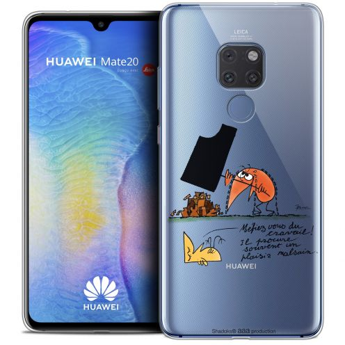 """Extra Slim Crystal Gel Huawei Mate 20 (6.5"""") Case Les Shadoks® Le Travail"""