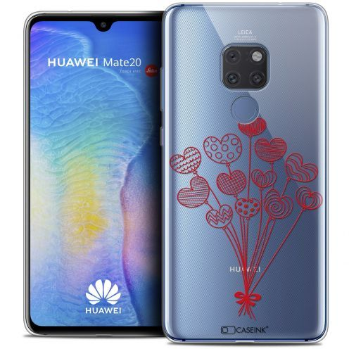 """Extra Slim Crystal Gel Xiaomi Mate 20 (6.5"""") Case Love Ballons d'amour"""