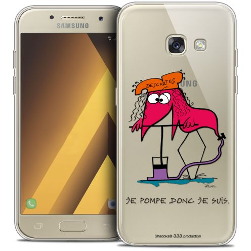 """Extra Slim Crystal Gel Samsung Galaxy A7 2017 A700 (5.7"""") Case Les Shadoks® Donc Je Suis"""