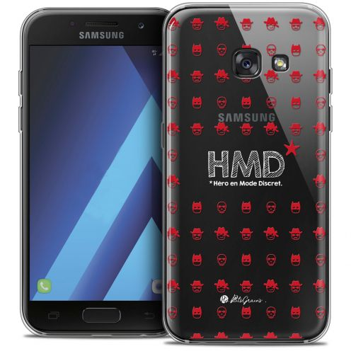 "Extra Slim Crystal Gel Samsung Galaxy A7 2017 A700 (5.7"") Case Petits Grains® HMD* Hero en Mode Discret"