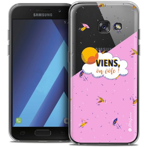 "Extra Slim Crystal Gel Samsung Galaxy A7 2017 A700 (5.7"") Case Petits Grains® VIENS, On Vole !"
