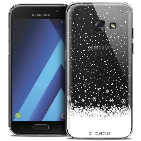 "Extra Slim Crystal Gel Samsung Galaxy A7 2017 A700 (5.7"") Case Noël 2017 Flocons de Neige"