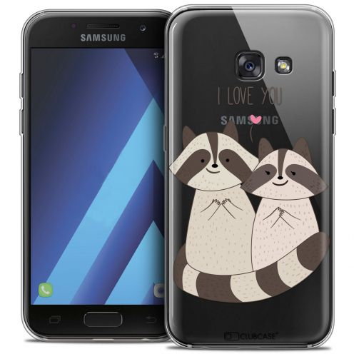 "Extra Slim Crystal Gel Samsung Galaxy A7 2017 A700 (5.7"") Case Sweetie Racoon Love"