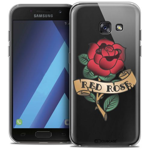 "Extra Slim Crystal Gel Samsung Galaxy A7 2017 A700 (5.7"") Case Tatoo Lover Red Rose"
