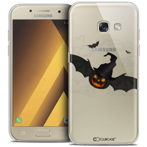 "Extra Slim Crystal Gel Samsung Galaxy A7 2017 A700 (5.7"") Case Halloween Chauve Citrouille"