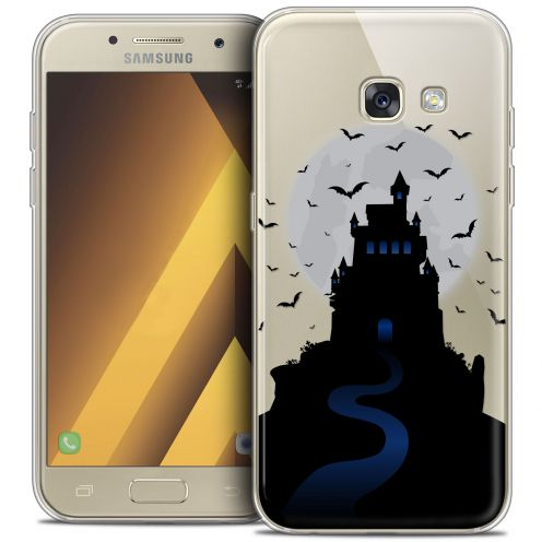 "Extra Slim Crystal Gel Samsung Galaxy A7 2017 A700 (5.7"") Case Halloween Castle Nightmare"