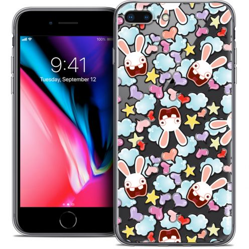 "Crystal Gel Apple iPhone 8 Plus (5.5"") Case Lapins Crétins™ Love Pattern"