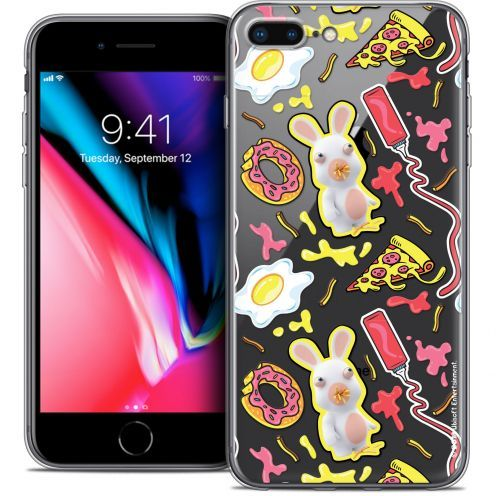 "Crystal Gel Apple iPhone 8 Plus (5.5"") Case Lapins Crétins™ Egg Pattern"