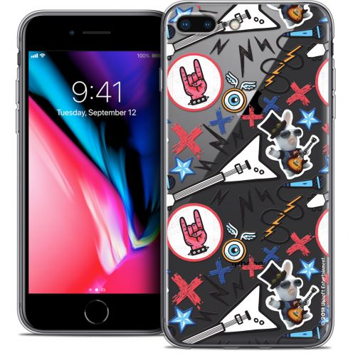 "Crystal Gel Apple iPhone 8 Plus (5.5"") Case Lapins Crétins™ Rock Pattern"