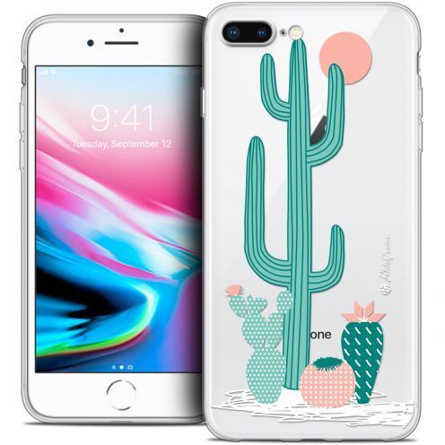 "Extra Slim Crystal Gel Apple iPhone 8 Plus (5.5"") Case Petits Grains® A l'Ombre des Cactus"