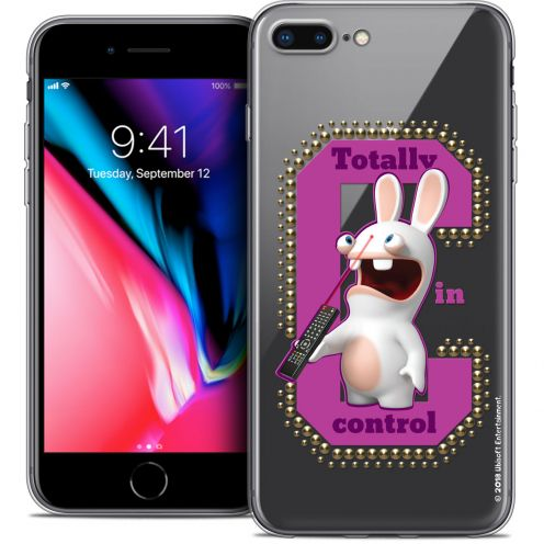 "Crystal Gel Apple iPhone 7 Plus (5.5"") Case Lapins Crétins™ In Control !"