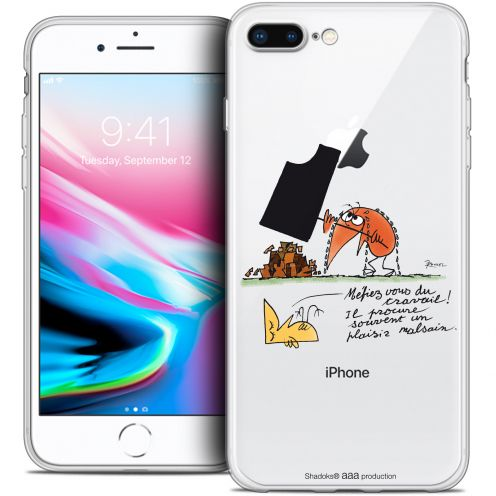 "Extra Slim Crystal Gel Apple iPhone 7 Plus (5.5"") Case Les Shadoks® Le Travail"