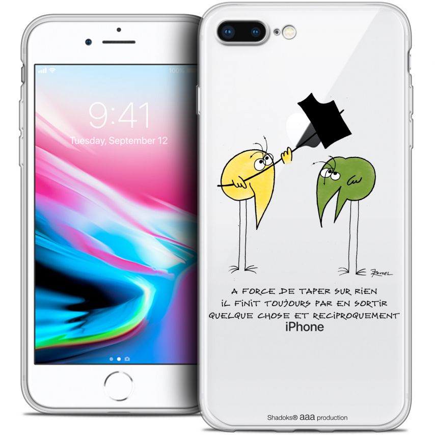"""Extra Slim Crystal Gel Apple iPhone 7 Plus (5.5"""") Case Les Shadoks® A Force"""