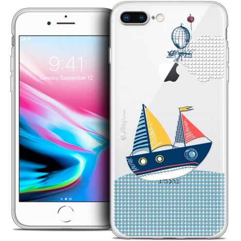 "Extra Slim Crystal Gel Apple iPhone 7 Plus (5.5"") Case Petits Grains® MVE Le Bateau"