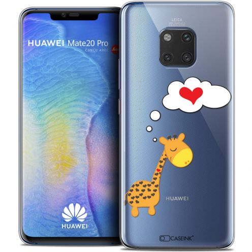 "Extra Slim Crystal Gel Xiaomi Mate 20 PRO (6.4"") Case Love Girafe Amoureuse"