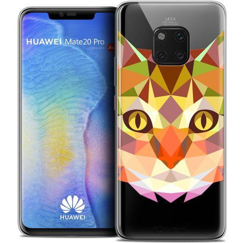 "Extra Slim Crystal Gel Xiaomi Mate 20 PRO (6.4"") Case Polygon Animals Cat"