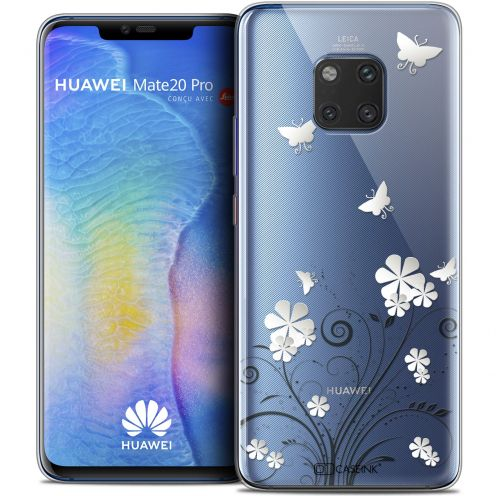 "Extra Slim Crystal Gel Xiaomi Mate 20 PRO (6.4"") Case Summer Papillons"