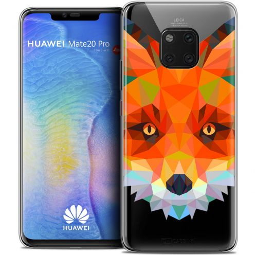 "Extra Slim Crystal Gel Xiaomi Mate 20 PRO (6.4"") Case Polygon Animals Fox"