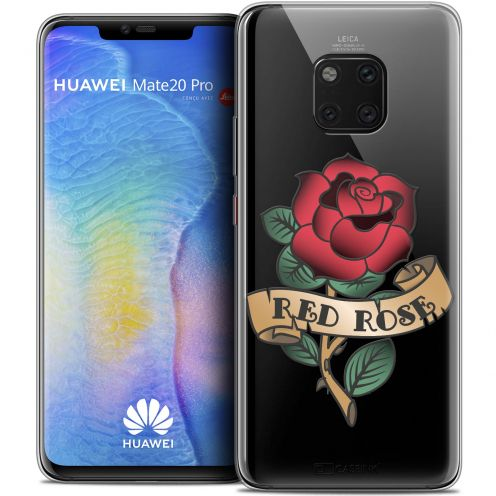 "Extra Slim Crystal Gel Xiaomi Mate 20 PRO (6.4"") Case Tatoo Lover Red Rose"