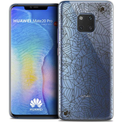 "Extra Slim Crystal Gel Xiaomi Mate 20 PRO (6.4"") Case Halloween Spooky Spider"