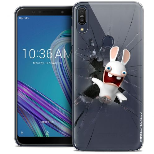 """Crystal Gel Asus Zenfone Max Pro (M1) ZB601KL (6"""") Case Lapins Crétins™ Breaking Glass"""