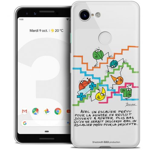 "Extra Slim Crystal Gel Google Pixel 3 (5.5"") Case Les Shadoks® L'escalier"