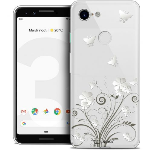 "Extra Slim Crystal Gel Google Pixel 3 (5.5"") Case Summer Papillons"